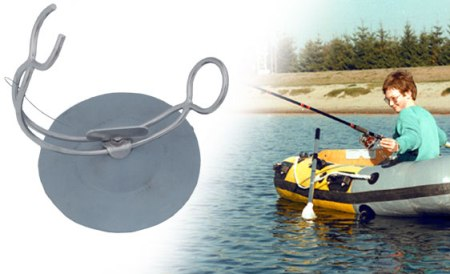 FISHING POLE HOLDER WITH GREY PAD